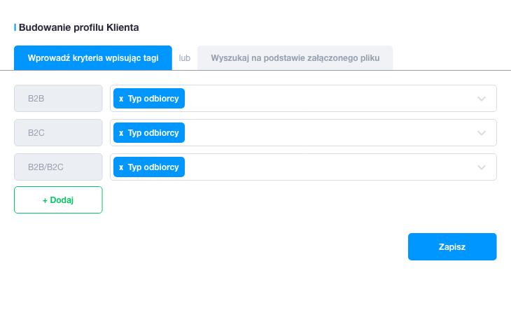 Budowanie profilu klienta