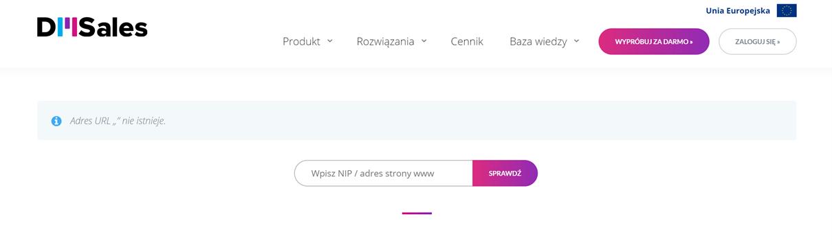 Błędny URL