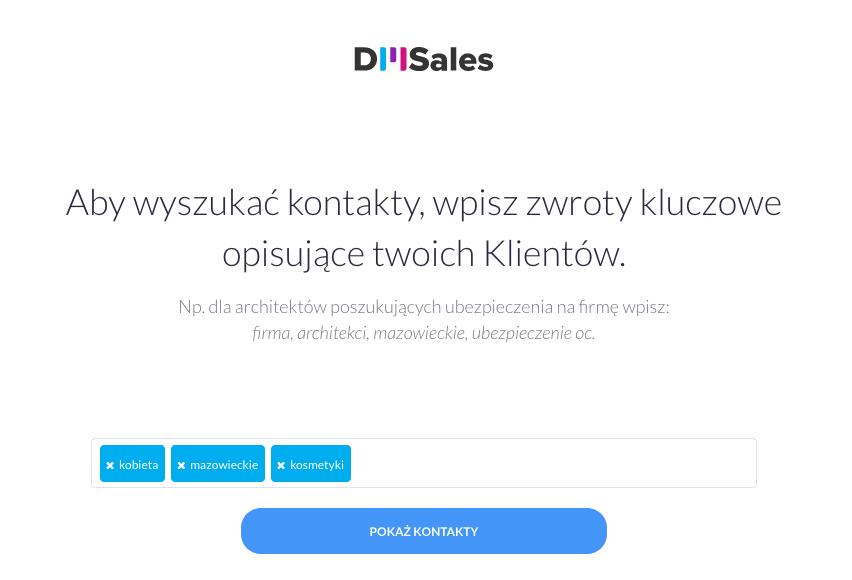 DMSales_wyszukiwanie_bazy_kontaktow