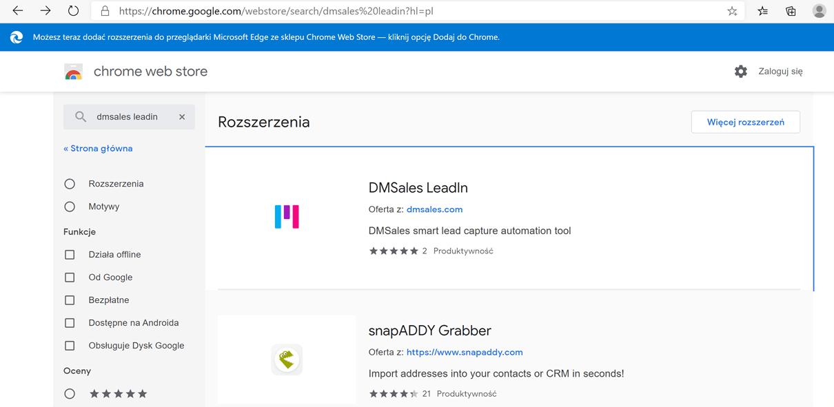 Wyszukaj DMSales LeadIn