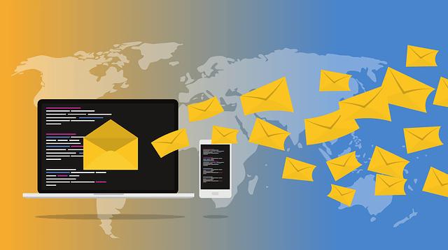 wysyłane wiadomości email