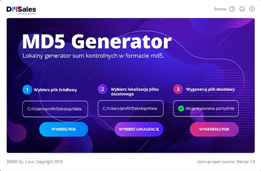 Wzbogacenia baz danych - MD5 Generator